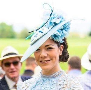 Blue Headpiece Hat Races Kentucky Derby